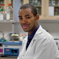 Portrait of Franklyn in the lab